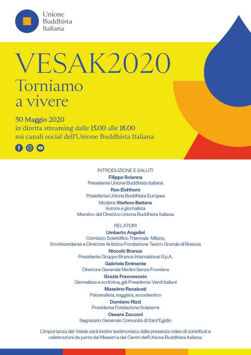 "Vesak 2020: ""Torniamo a vivere"""